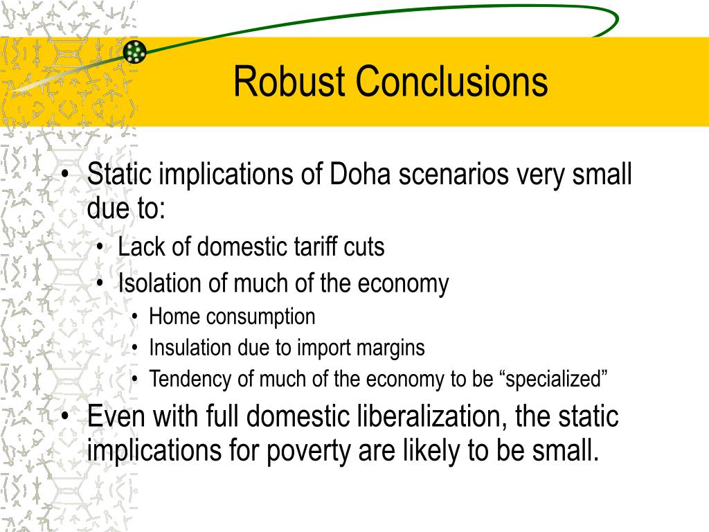 Robust Conclusions