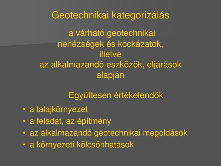 Geotechnikai kategorizálás