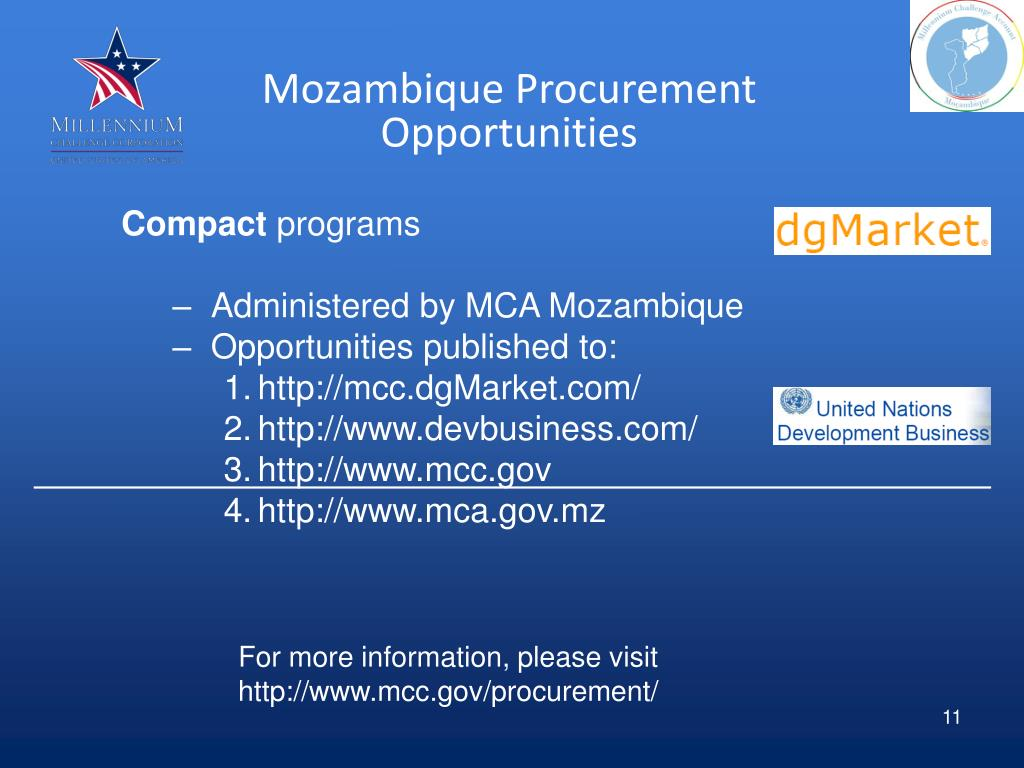 Mozambique Procurement Opportunities