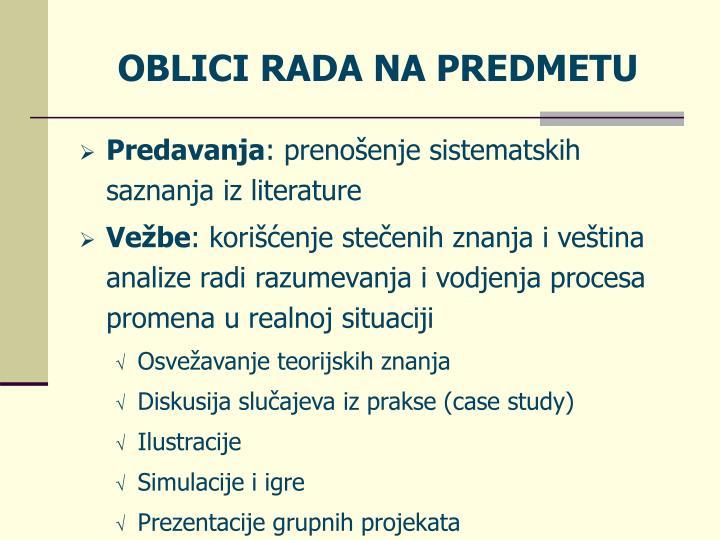 OBLICI