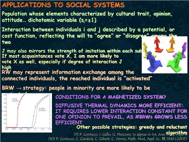 APPLICATIONS TO SOCIAL SYSTEMS