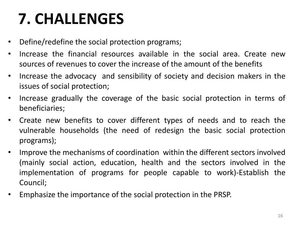 7. CHALLENGES