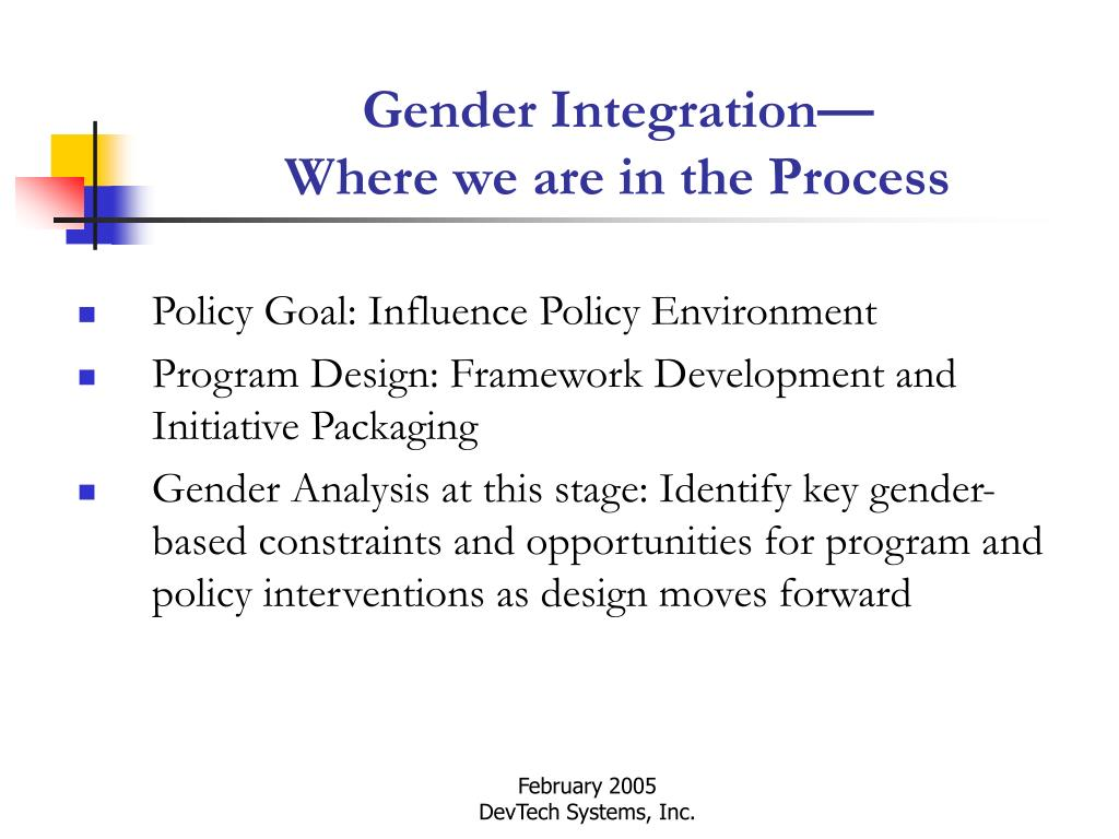 Gender Integration—