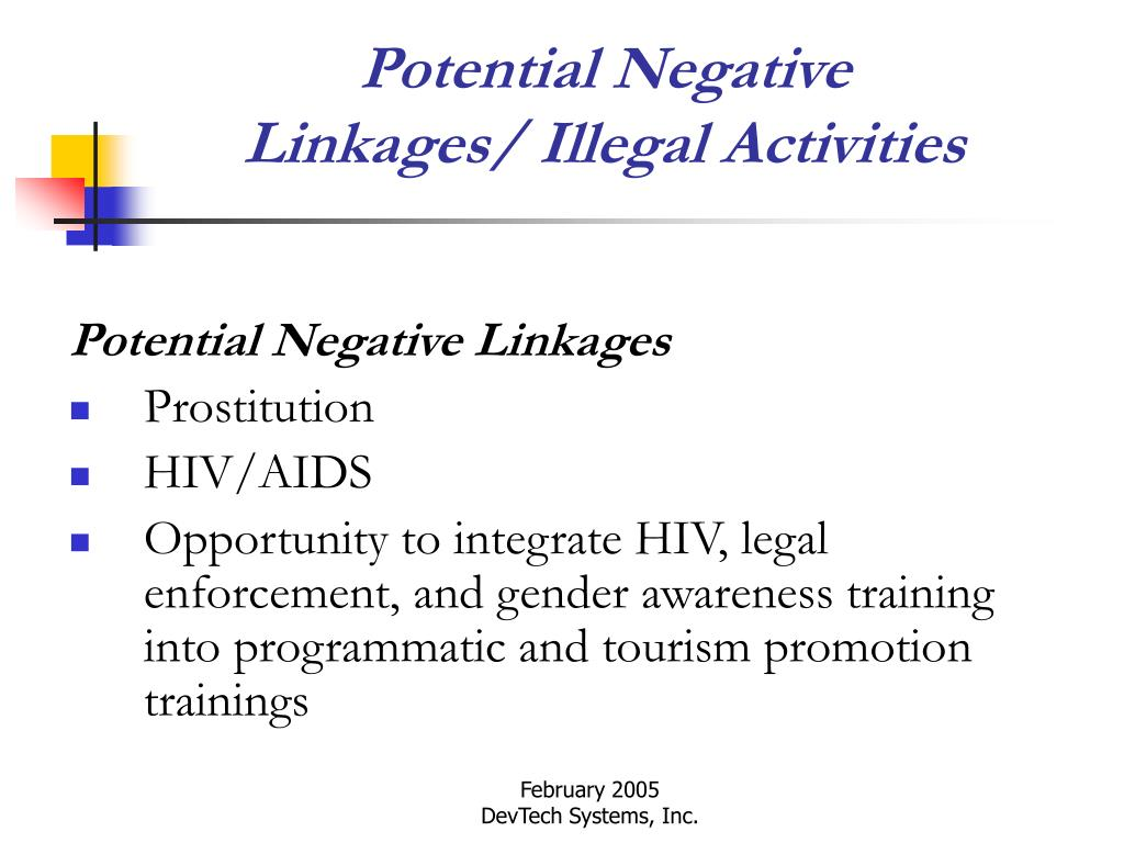 Potential Negative Linkages/ Illegal Activities
