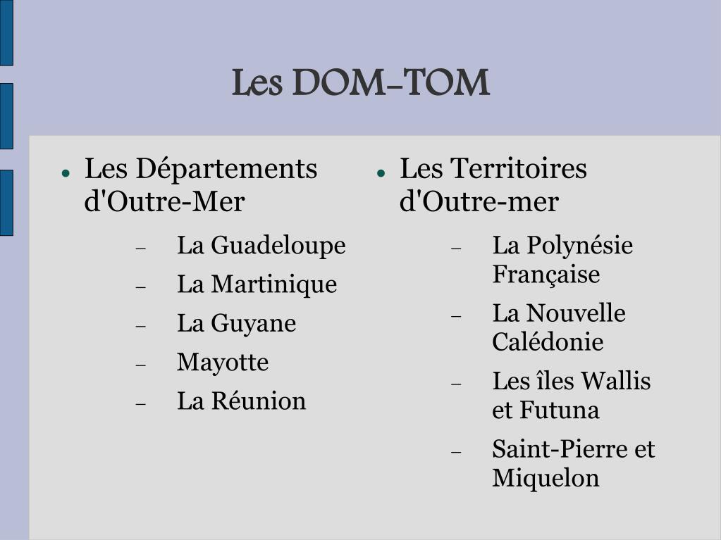 Les DOM-TOM