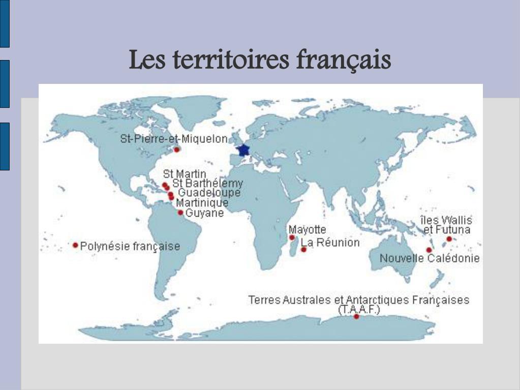 Les territoires français