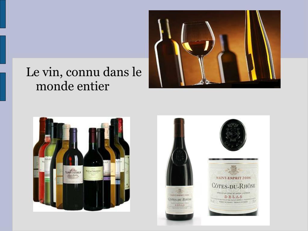 Le vin, connu dans le monde entier