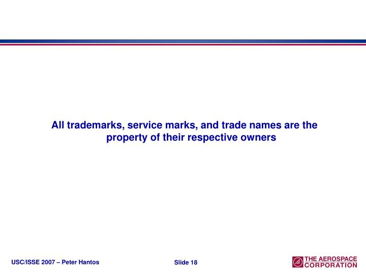 All trademarks, service marks, and trade names are the property of their respective owners