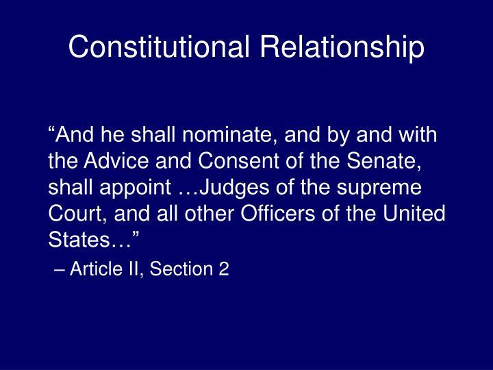 Constitutional Relationship