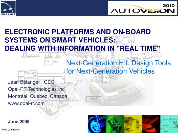 Next generation hil design tools for next generation vehicles
