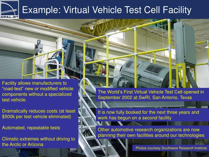Example: Virtual Vehicle Test Cell Facility