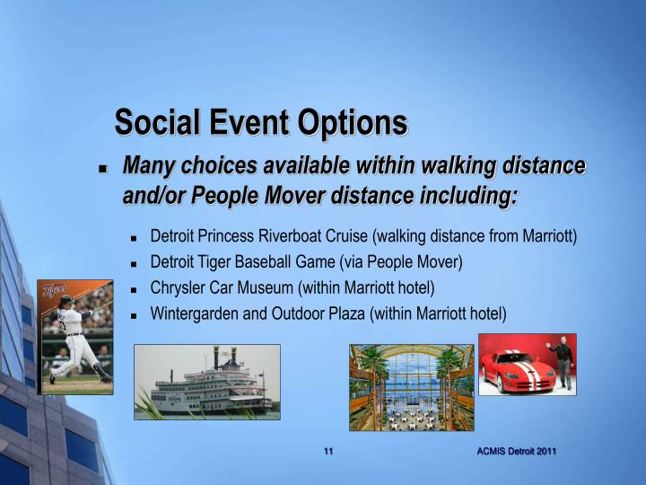 Social Event Options