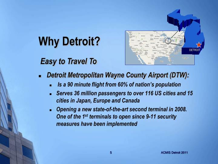Detroit Metropolitan Wayne County Airport (DTW):