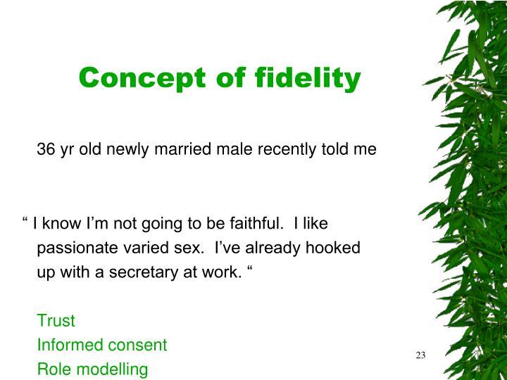 Concept of fidelity