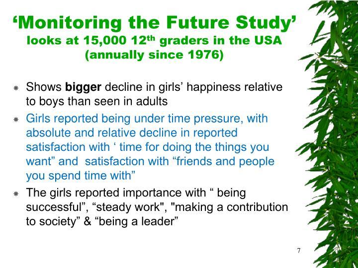 'Monitoring the Future Study'