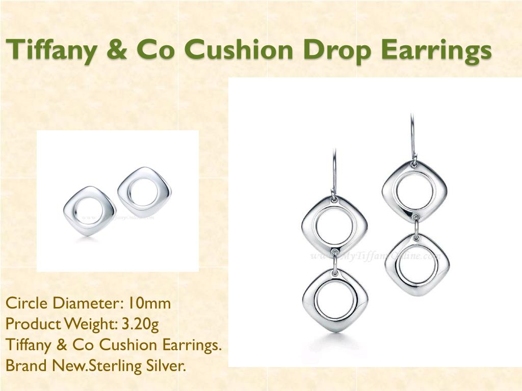 Tiffany & Co Cushion Drop Earrings