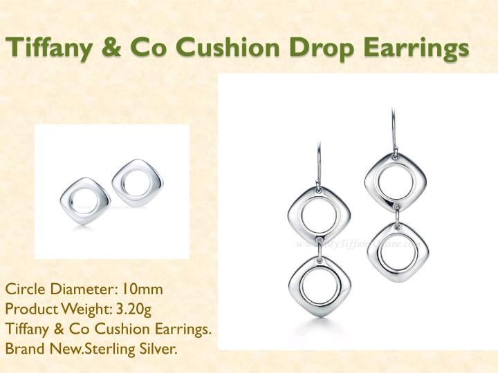 Tiffany co cushion drop earrings