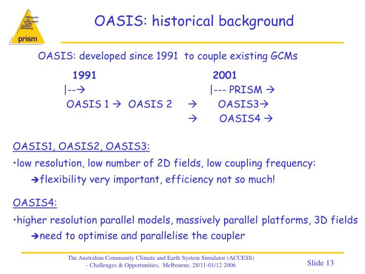 OASIS: historical background