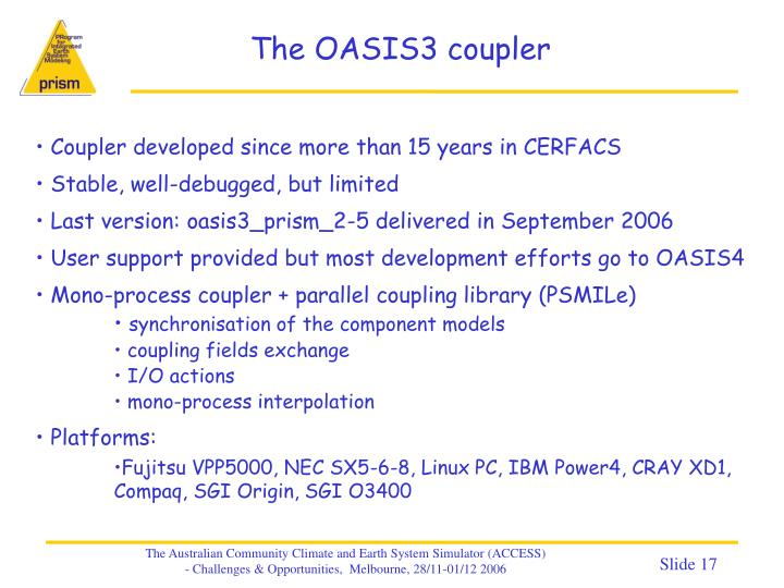 The OASIS3 coupler
