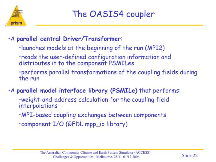 The OASIS4 coupler
