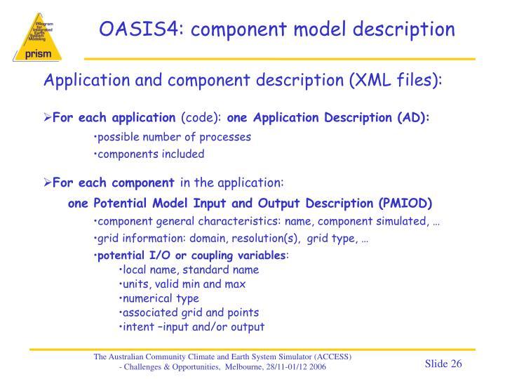 OASIS4: component model description
