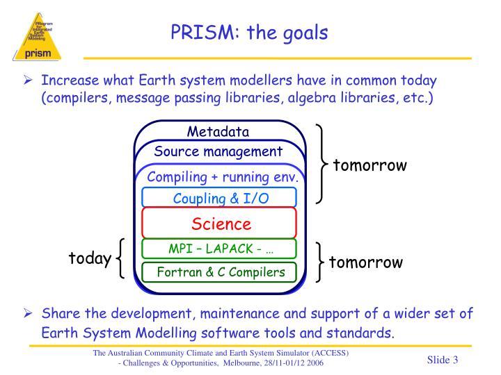 PRISM: the goals