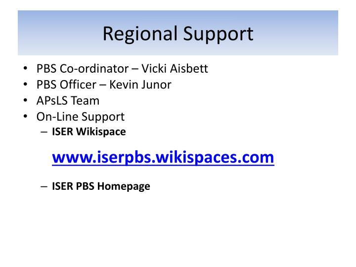 Regional Support