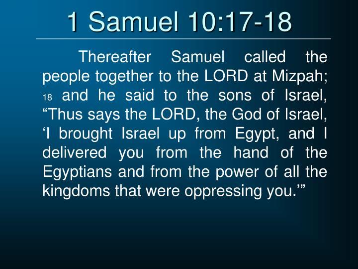 1 Samuel 10:17-18