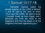 1 samuel 10 17 18