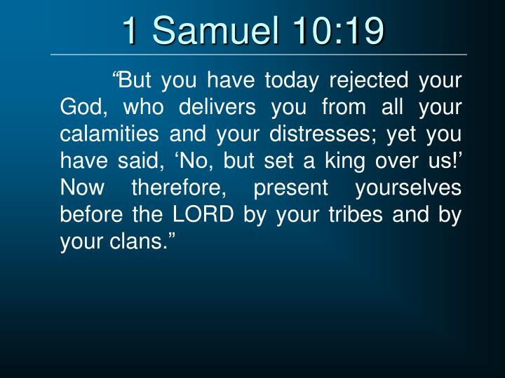 1 Samuel 10:19