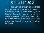1 samuel 10 20 21