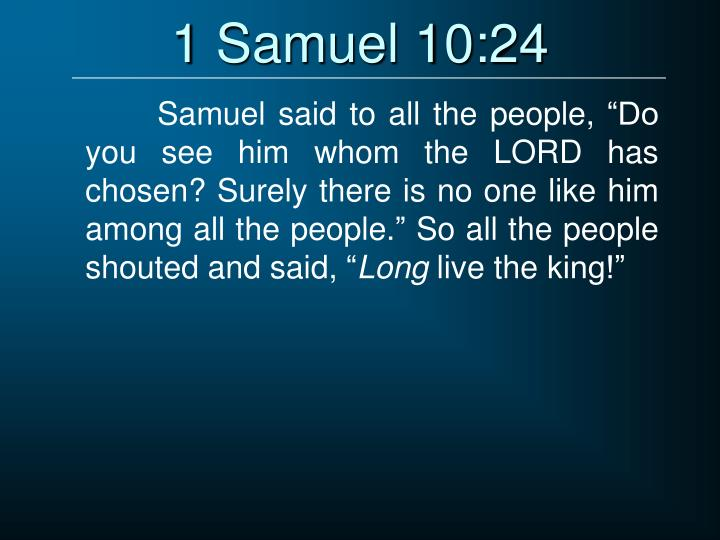 1 Samuel 10:24