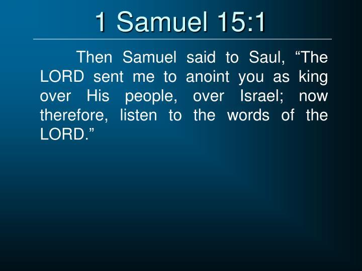 1 Samuel 15:1