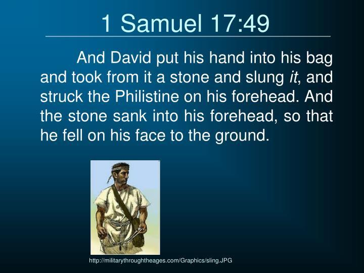 1 Samuel 17:49