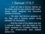 1 samuel 17 5 7