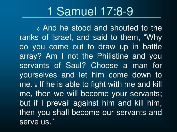 1 Samuel 17:8-9