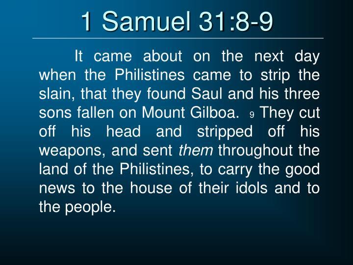 1 Samuel 31:8-9