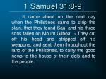 1 samuel 31 8 9