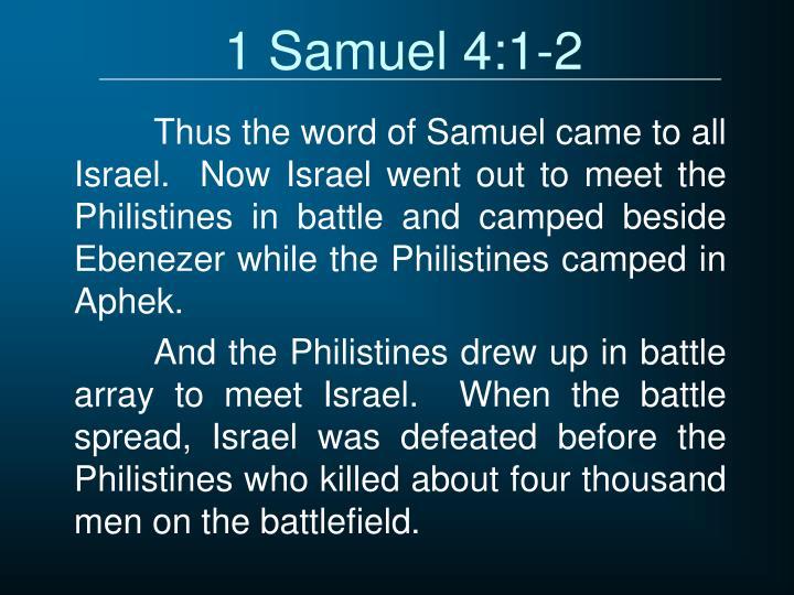 1 Samuel 4:1-2