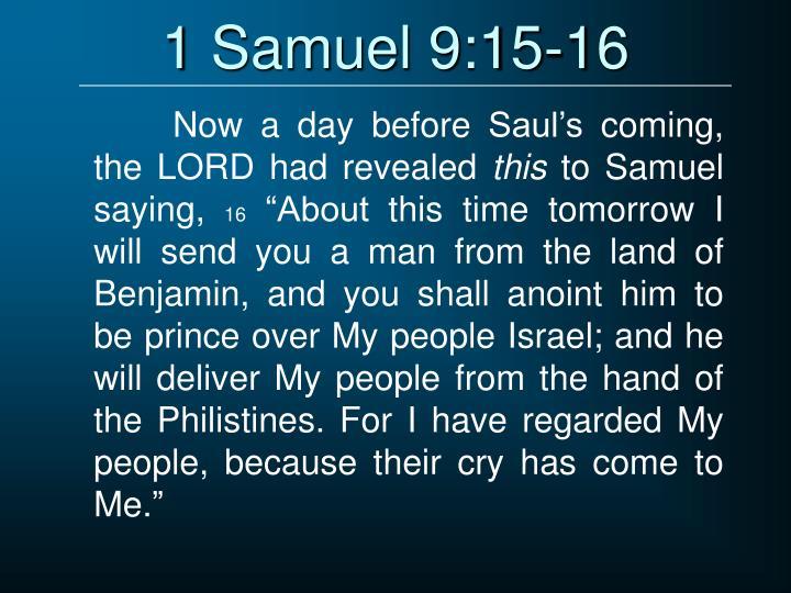 1 Samuel 9:15-16
