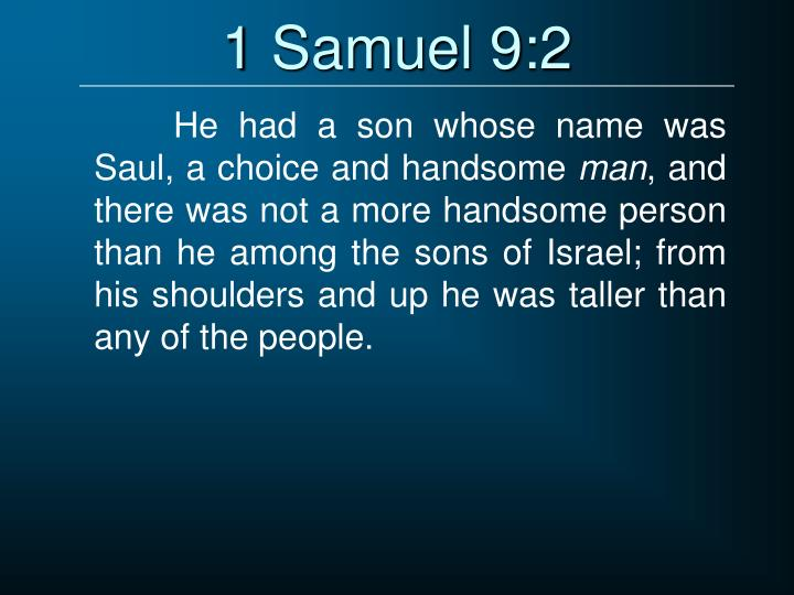 1 Samuel 9:2