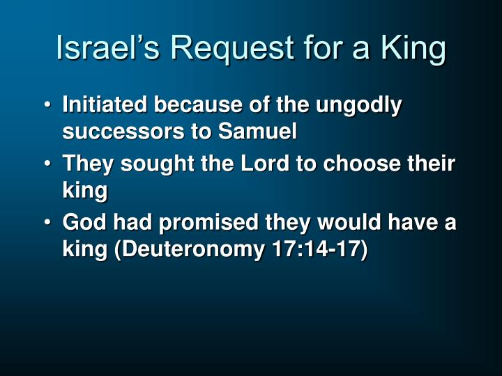 Israel's Request for a King