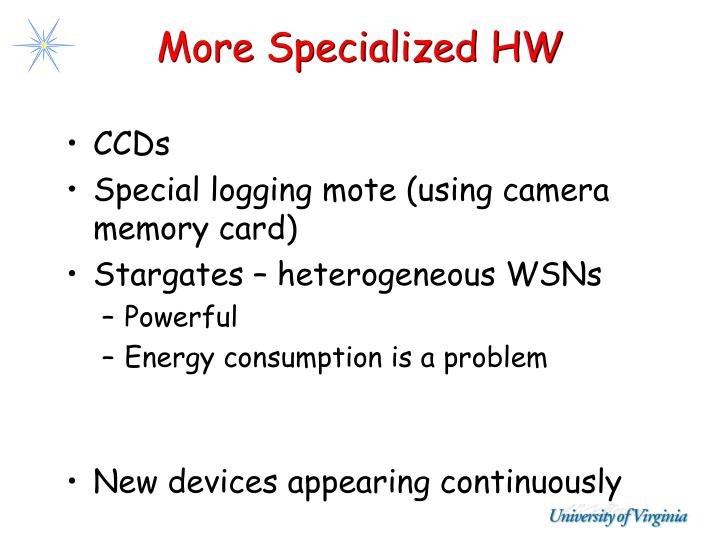 More Specialized HW