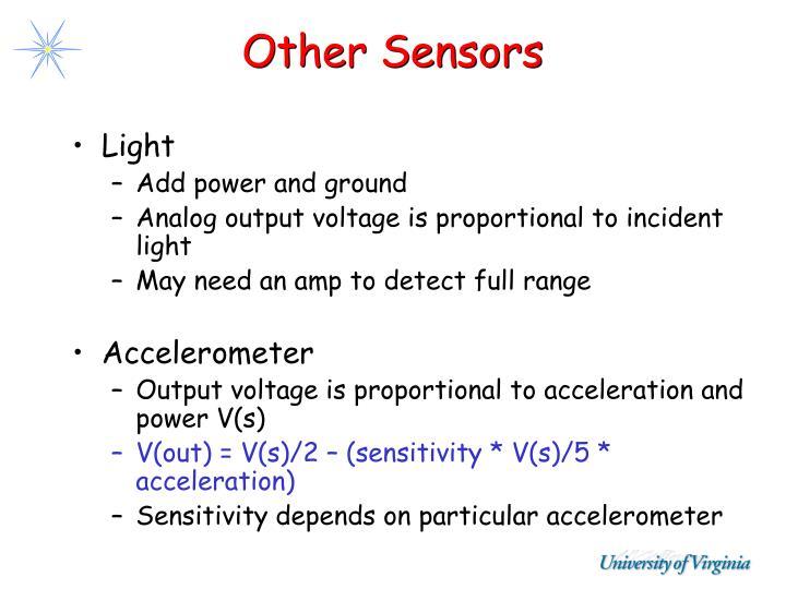 Other Sensors