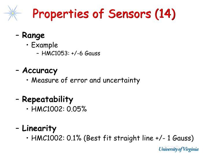 Properties of Sensors (14)
