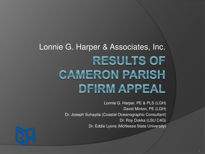 Lonnie g harper associates inc