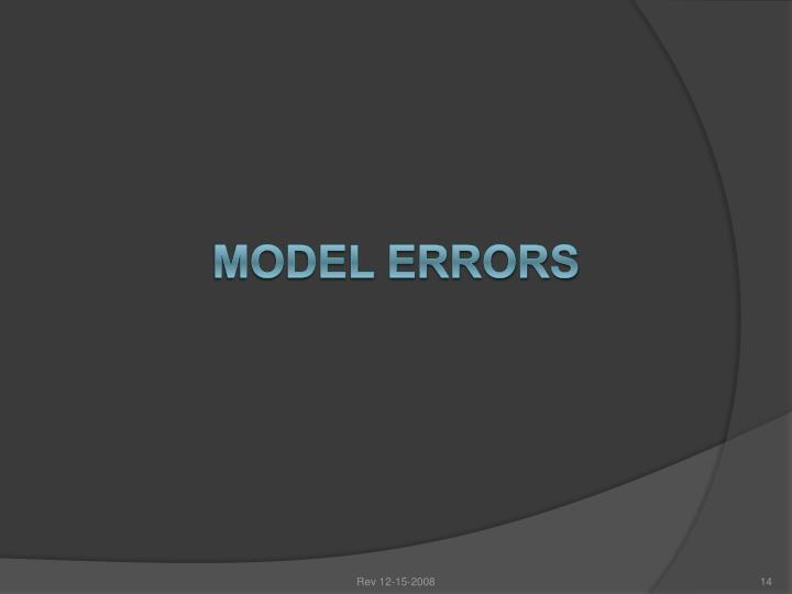 MODEL ERRORS