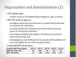 organization and administration 2