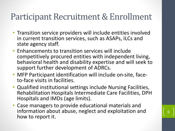 Participant Recruitment & Enrollment