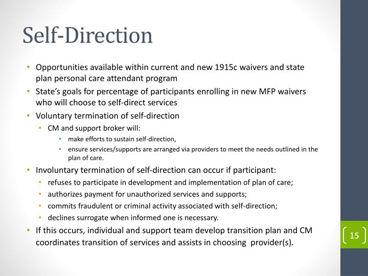 Self-Direction